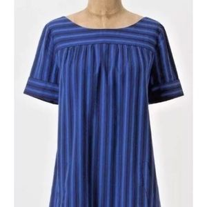 Anthropologie HD in Paris Cerulean Stripes Shift 0